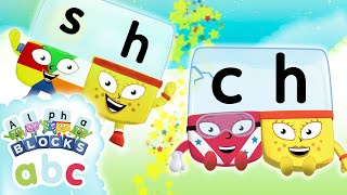 Alphablocks - Learn to Read | SH & CH Teams | Phonics for Kids