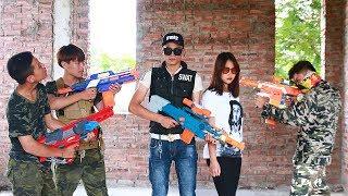 Superhero action S.W.A.T & Super Girl Nerf guns Assassins fight Hero Girl Nerf war thumbnail