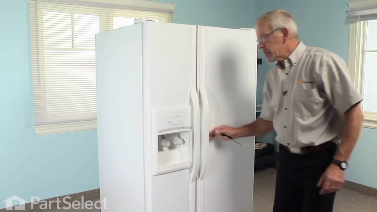 refrigerator repair replacing the ice guide whirlpool part rh youtube com whirlpool refrigerator repair instructions Whirlpool Refrigerator Freezer Problems