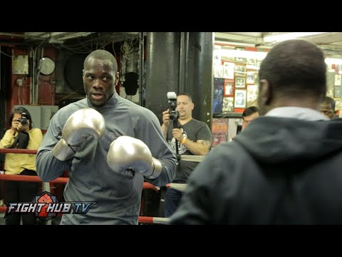 Deontay Wilder staying sharp in camp for Jan 16th bout- Deontay Wilder boxing workout video