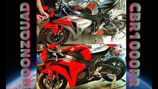 Rebuilding A Wrecked Motorcycle CBR1000RR