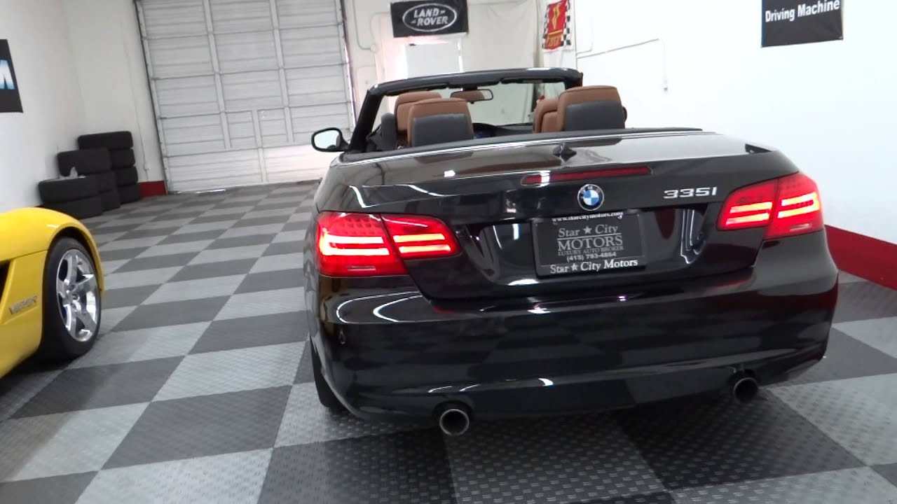 BMW Series I Convertible Black On Brown K Miles LOADED - 2012 bmw 335i convertible for sale
