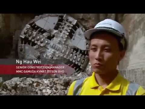 Nguyên lý hoạt động của cỗ máy khoan đường hầm ngầm . rất hiện đại .