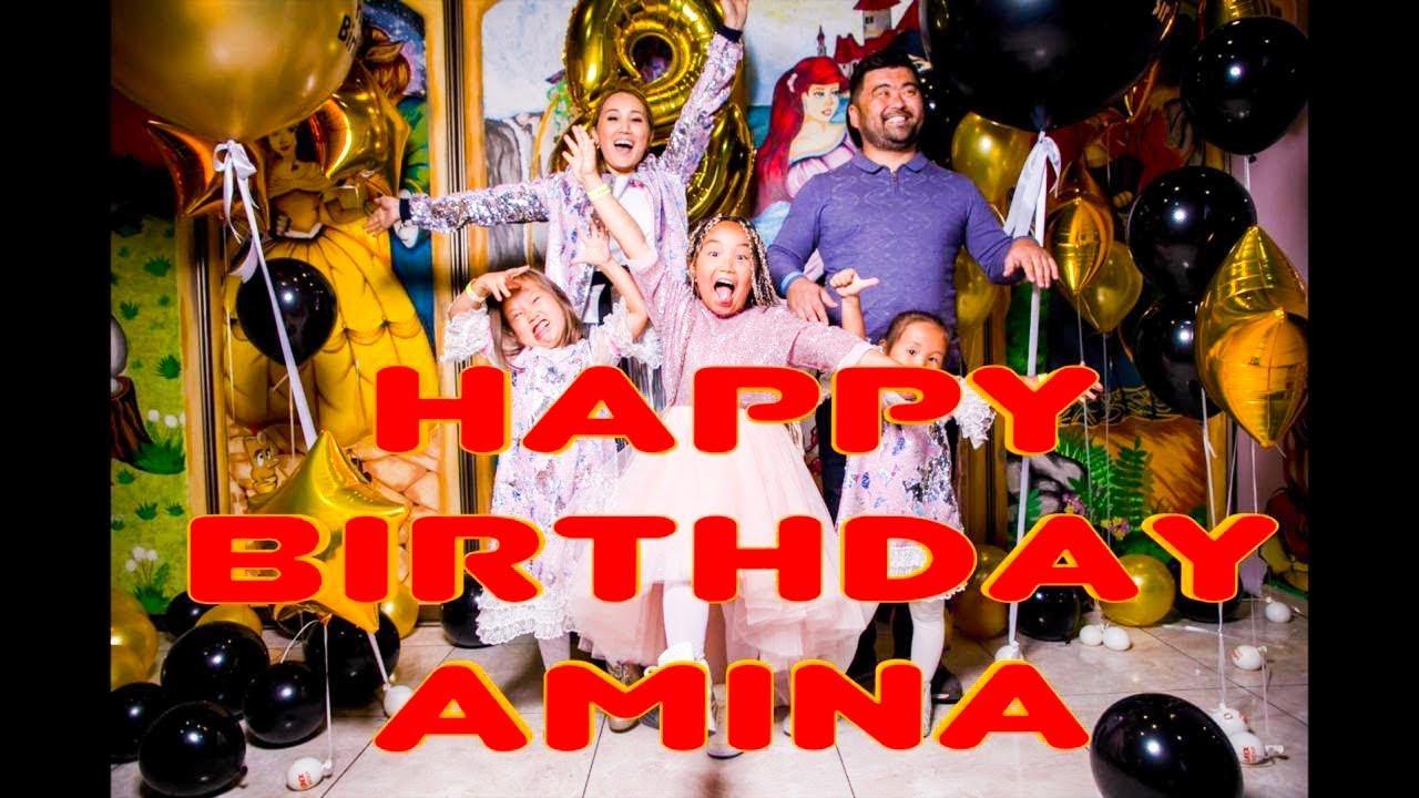 HAPPY BIRTHDAY AMINA! АМИНКЕ ИСПОЛНИЛОСЬ 8 ЛЕТ.СУПЕР ПРАЗДНИК