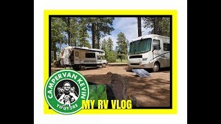 Friend And His Oldie But Goodie Class C RV Visit Camp