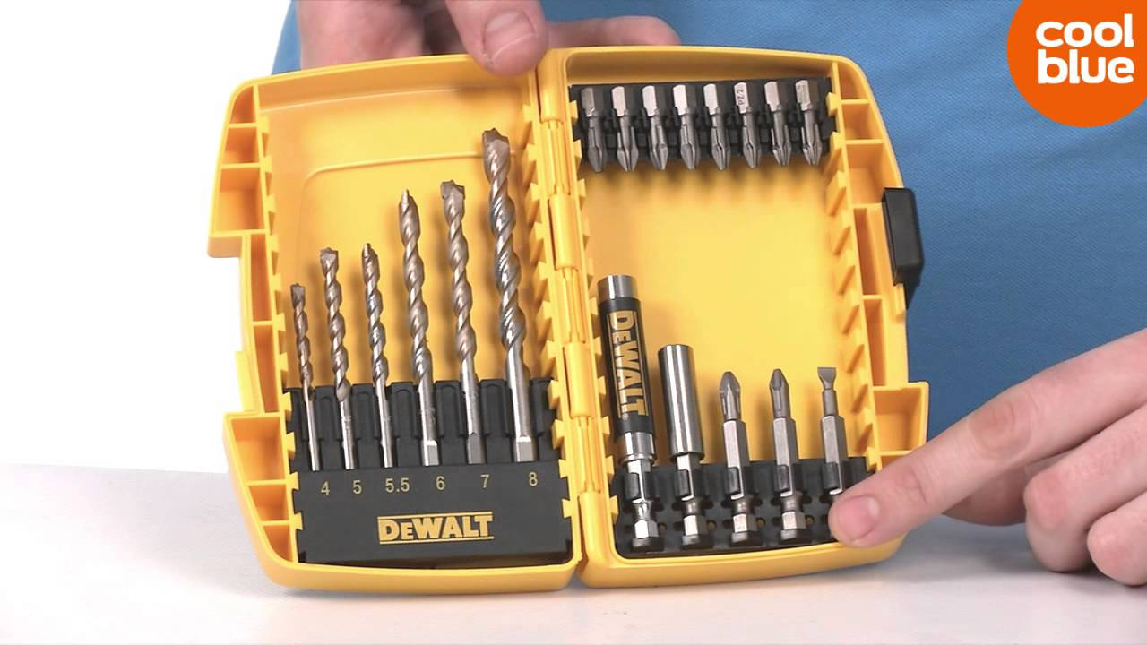 Bosch Borenset Dewalt 19 Delige Tough Case Bit En Borenset Productvideo Nl Be