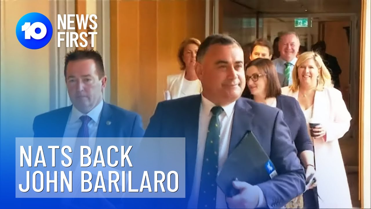 John Barilaro Stays With Nationals Backing 10 News First Youtube