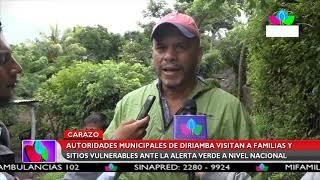 Multinoticias | Autoridades de Diriamba visitan a familias y sitios vulnerables ante alerta verde