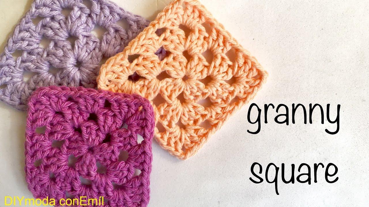 Básico Granny a crochet para principiantes tejer y unir paso a paso ...