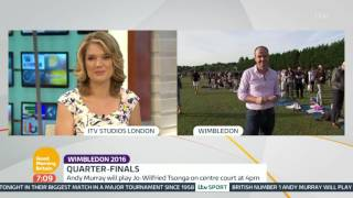 Andy Murray To Face Jo-Wilfried Tsonga | Good Morning Britain