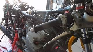 Philracing premiers tours moteur honda 750 CR Réplica