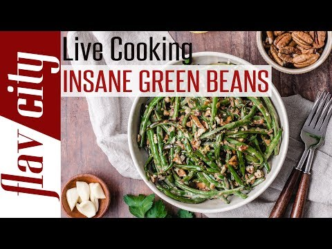 🔴 Garlic Butter Chicken W/ Insane Green Beans - From Our New Keto Cookbook