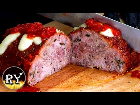 Italian Meatloaf Smoked On The Weber Kettle