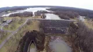 paint creek dam and spill way