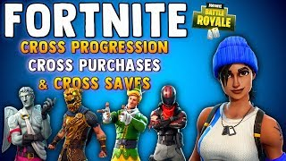 FORTNITE BATTLE ROYALE CROSS PROGRESSION & CROSS PURCHASES ALL PLATFORMS!! XBOX, PS4, PC & IOS