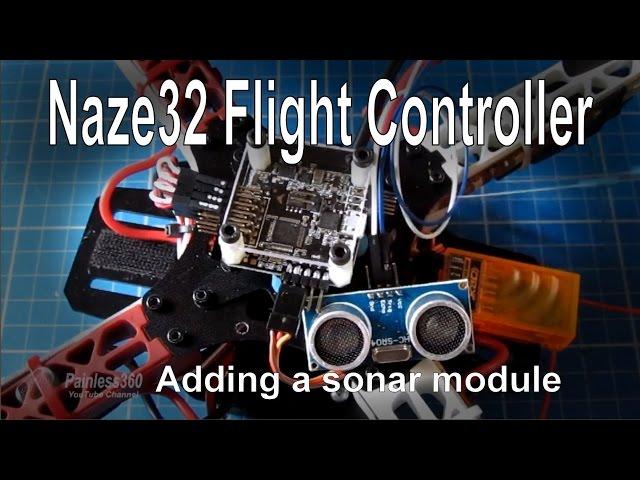 (4/8) Naze32 Flight Controller – Adding Sonar (HC-SR04 module)