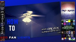 How To Add Lights To Ceiling Fan Maintenance Repair Install Light Kit Video