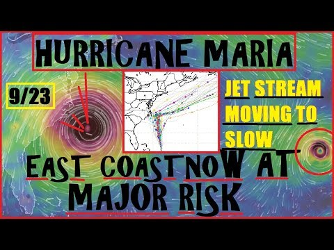 HURRICANE MARIA Update WAY Too Close For Comfort, Jet Stream STALLING, Jose no longer Helping