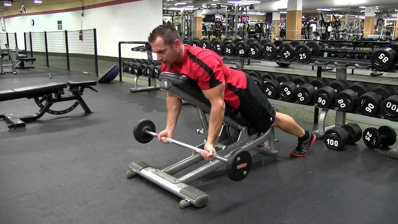 Incline Underhand Barbell Front Raise - YouTube