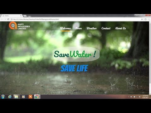 How to Create Video As Background HTML , CSS