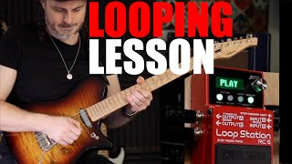 Looping lesson Boss RC-5 with Alex Hutchings