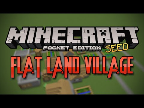 FLAT LAND VILLAGE SEED! - Minecraft Pocket Edition Seed
