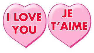 """i Love You, Je T'aime"" - Learn To Say ""i Love You"" In 14 Languages, Kindergarten Kids Song"