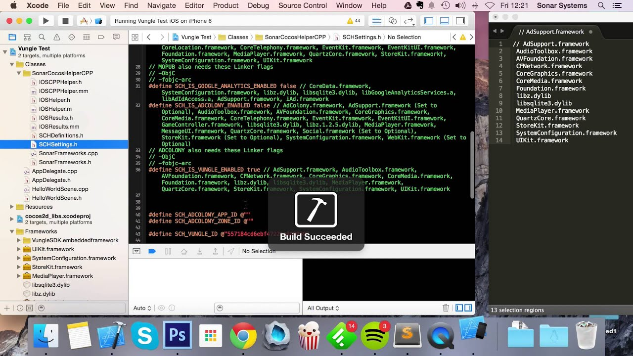 C++   iOS Cocos Helper - Setting Up Vungle