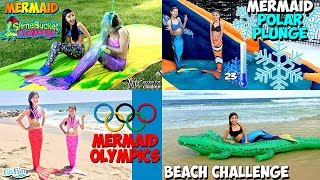 Fun Fun Mermaid Slime Bucket Challenge Olympics Polar Plunge