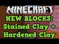 Minecraft Xbox One + PS4 New Blocks: Hardened Clay & Stained Clay