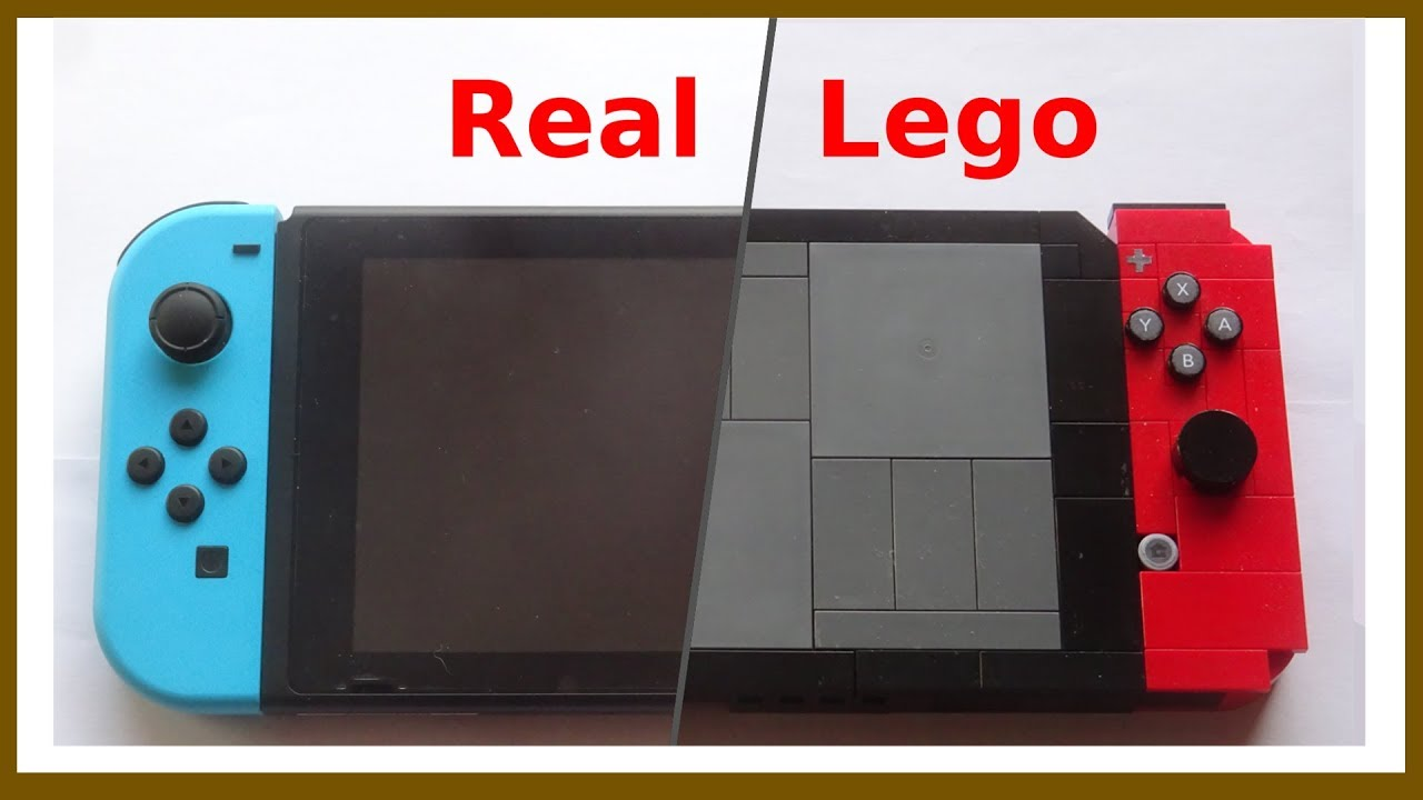 Comparison Of Real And Lego Nintendo Switch Youtube