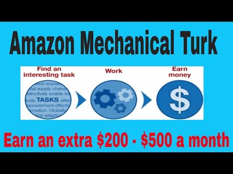 Amazon Mechanical Turk -  How to make extra cash with amazon m turk