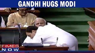 Rahul Gandhi HUGS PM Modi - Full Video Footage