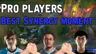 Pro Players BEST SYNERGY MOMENTS! (League of Legends)