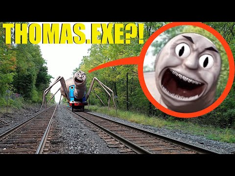 If you ever see Scary Thomas the Train.Exe at these Haunted Railroad Tracks, RUN AWAY FAST!!