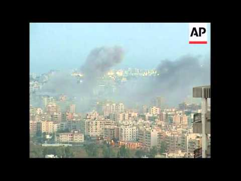 Israeli airstrikes in south Beirut suburbs
