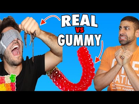 DISGUSTING REAL FOOD VS GUMMY FOOD CHALLENGE GONE WRONG BLIN