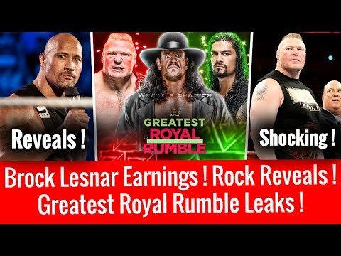 Greatest Rumble Leaks ! Rock Reveal Plans ! Shocking Brock Lesnar Income/Earning 2018 Salary ! Asuka