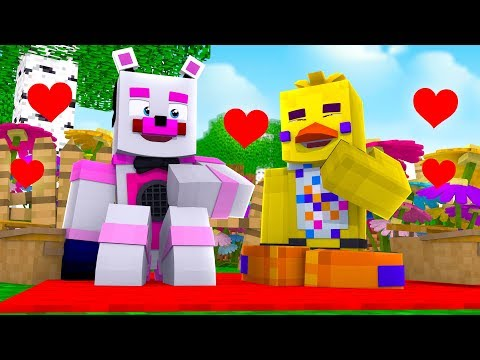Funtime Freddy and Chica's Romantic Picnic - Minecraft FNAF Roleplay