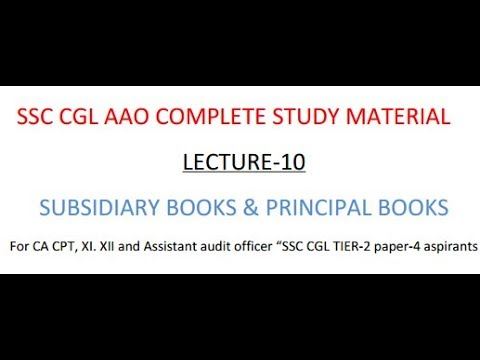 SSC CGL AAO Preparation Study Material, Subsidiary Book and Principle Book