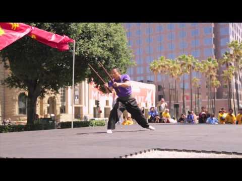 Kung Fu Tai Chi Day 2014: Bai He Shuang Jian (白鶴雙鐧)