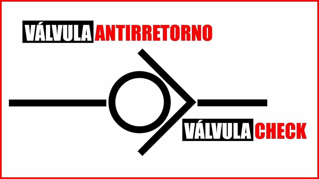 Simbologia valvula antirretorno
