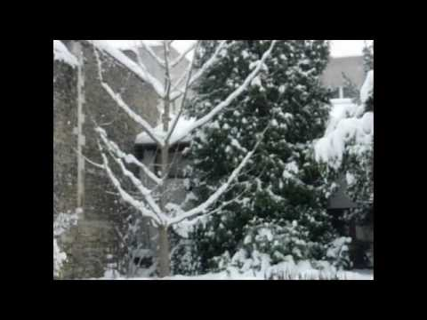 NEIGE A VIENNE (ISERE) FRANCE