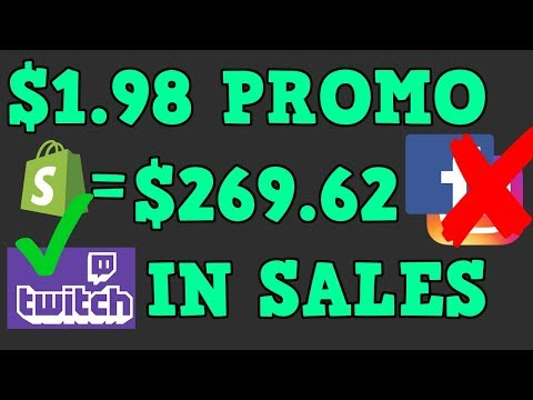 $1.98 PROMO GOT ME $269.62 IN SHOPIFY SALES! HERES HOW I DID IT