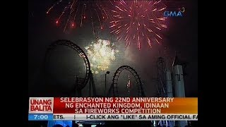 UB: Selebrasyon ng 22nd anniversary ng Enchanted Kingdom, idinaan sa fireworks competition