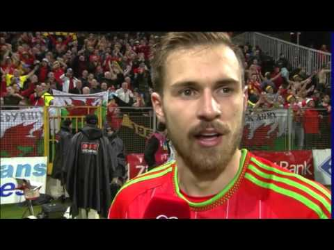Aaron Ramsey interview after Wales qualify for Euro 2016 | Euro 2016 Qualifiers