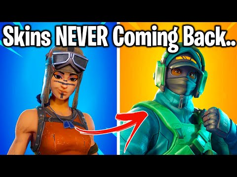15 Rare Fortnite Skins NEVER RETURNING!