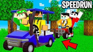 2 SPEEDRUN CON LE MACCHINE vs 2 CACCIATORI  - Minecraft ITA