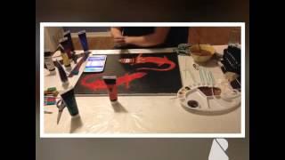 Aboriginal Like Goanna Painting; KL