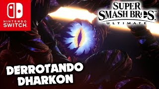 Derrotando Dharkon no modo história de Super Smash Bros. Ultimate